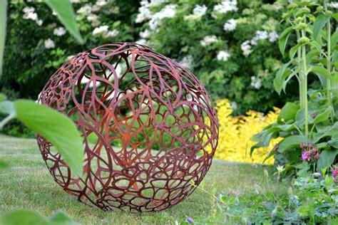 Garten Deko Kugel Rost rostdeko hortensienkugel gartenkugel edelrost gartendeko