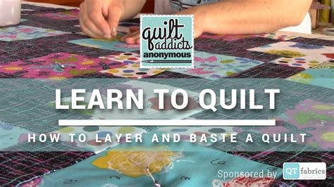 quilt sandwich  beginner quilting