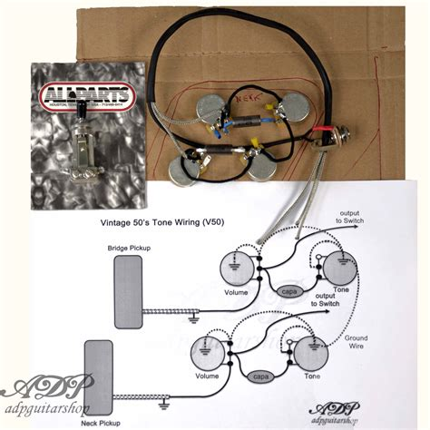 kit electronique cable p90 33nf lespaul gibson