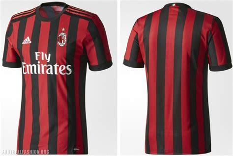 Adidas Soccer Reveals Ac Milan 201718 Home Kit Football