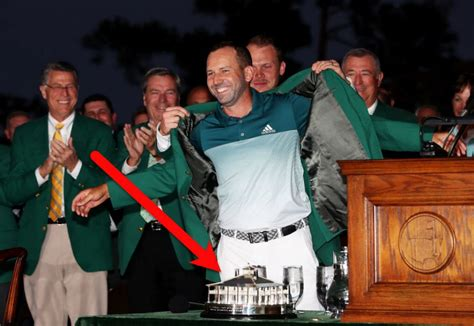 Sergio Garcia does not get to keep the green jacket for ...
