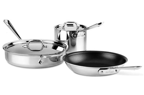 clad nonstick stainless cookware set  piece cutlery