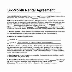 simple rental agreement 11 download free documents in With 12 month lease agreement template