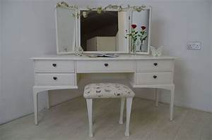 stag dressing table birds and blossoms painted vintage With best brand of paint for kitchen cabinets with heart shaped stickers