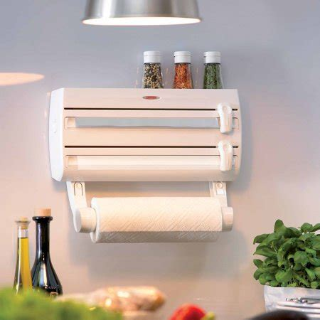 Spice Rack Paper Towel Holder by Leifheit Wall Mount Paper Towel Holder With Spice Rack
