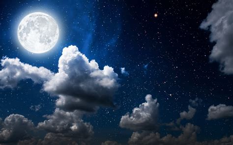 Moon Anime Wallpaper - moon clouds sky wallpapers hd wallpapers id 18374