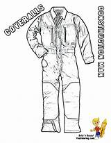 Coloring Construction Boys Overalls Tough Coveralls Yescoloring Equipment sketch template