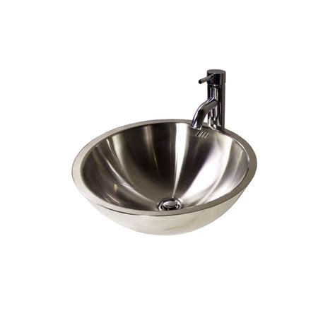 stainless steel vessel sink filament design cantrio vessel sink in stainless steel ms