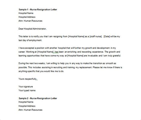 resignation letter template word resignation letter template 40 free word pdf format 7022