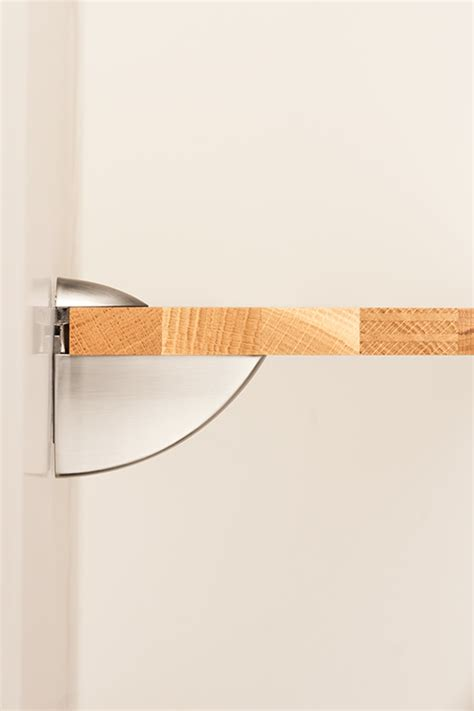 pelican shelf support bracket brushed nickel shelving