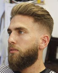 Fade Hairstyle Men with Beards
