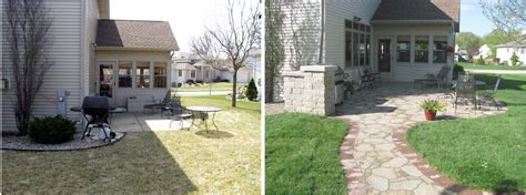 landscaping before and after maple leaf landscaping photo gallery