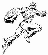 Marvel Coloring Superheroes Super Heroes sketch template