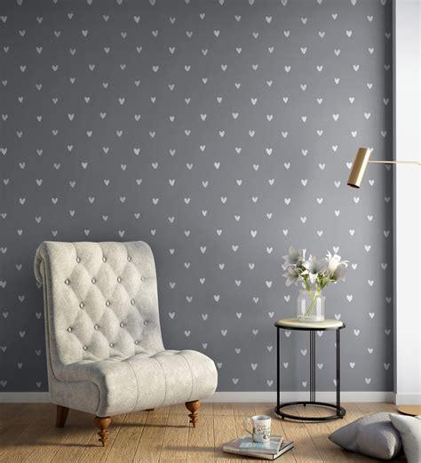 buy white grey happy hearts wallpaper nilaya wall