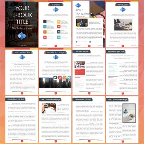 Free Ebook Template Images  Professional Report Template Word