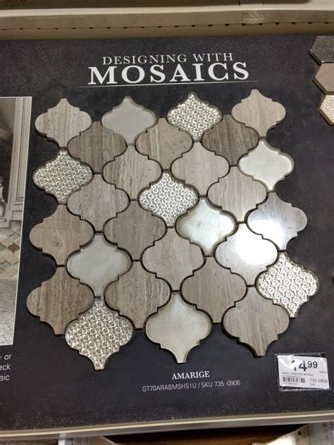 Check out our penny tile selection for the very best in unique or custom, handmade pieces from our подстаканники shops. Cute mosaic tiles from Menards. (With images) | Mosaic tiles, Shower tile, Mosaic