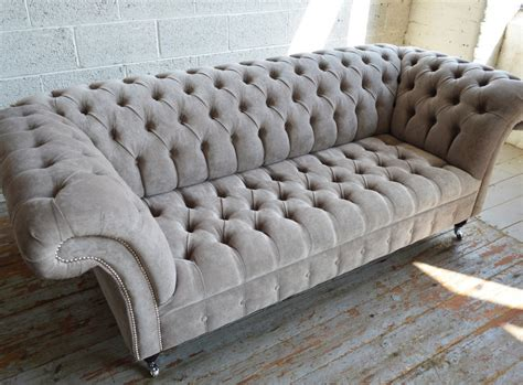 chesterfield sofa velvet fabric naples velvet 3 seater chesterfield sofa abode