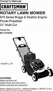 Craftsman 917377010 User Manual Lawn Mower Manuals And