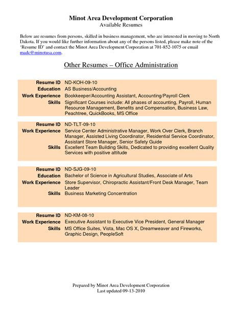 dental front office resume sample