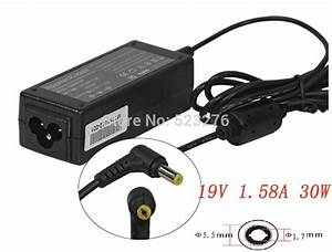 New 19v 1 58a 30w Laptop Adapter For Acer Aspire One Pa