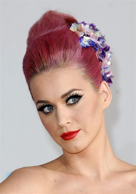 katy perry pink hair updo   hair