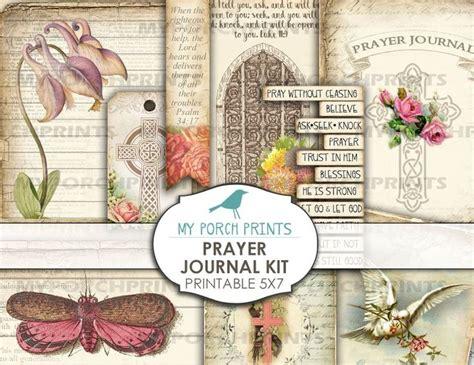 prayer faith junk journal kit  christian book vintage