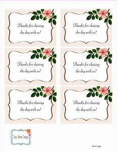 5 best images of free printable wedding favor tags With bridal shower favor tags template