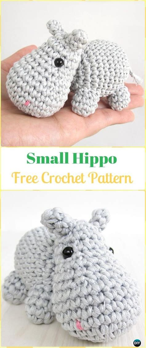 amigurumi crochet hippo toy softies  patterns