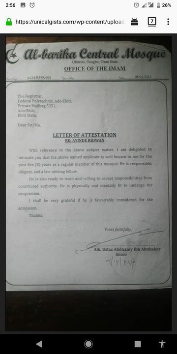 write good letter  attestation  samples