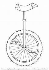 Unicycle Draw Drawing Step Tutorials sketch template