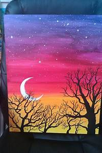 creative painting ideas easy acrylic painting ideas trees - Google Search | Paint ...