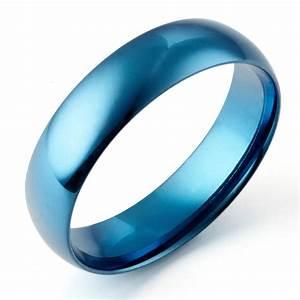 sz4 16 men women blue wedding anniversary titanium rings With blue wedding rings