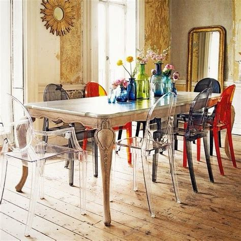 chaises starck ghost 17 best images about la chaise louis ghost on wooden dining tables notting hill