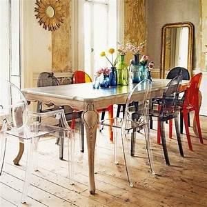 Decoration sejour chaise transparent ghost kartell for Deco cuisine avec chaise de sejour