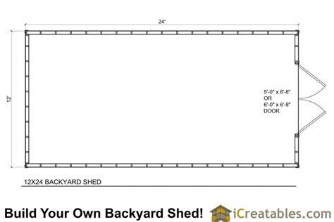 12x24 backyard large shed plans icreatables com