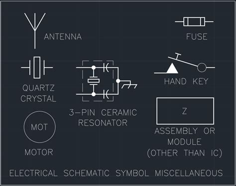 electrical schematic symbol miscellaneous free cad