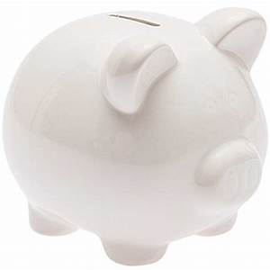 Sparschwein Zum Bemalen : sparschwein zum bemalen wei 14 5x13cm g nstig online kaufen ~ Frokenaadalensverden.com Haus und Dekorationen