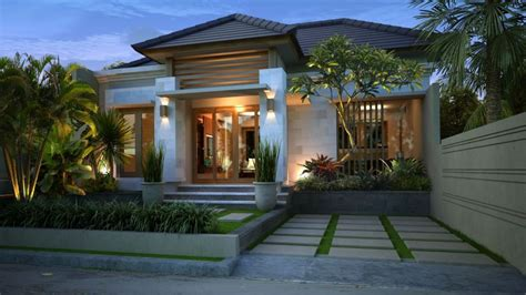 gaya desain rumah bali elegan gambar  desain rumah