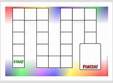 6 Best Images of Blank Game Board Templates Printables