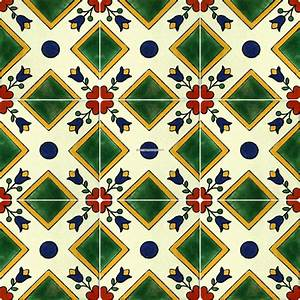 Mexican Talavera Frost Proof Tile 'Mision' - Terra Artesana