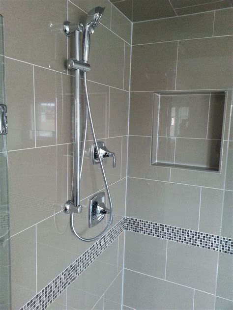 glass shower features  polished    glossy