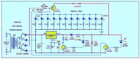 led emergency light with voltage cut off protection ups emergency lighting led circuit