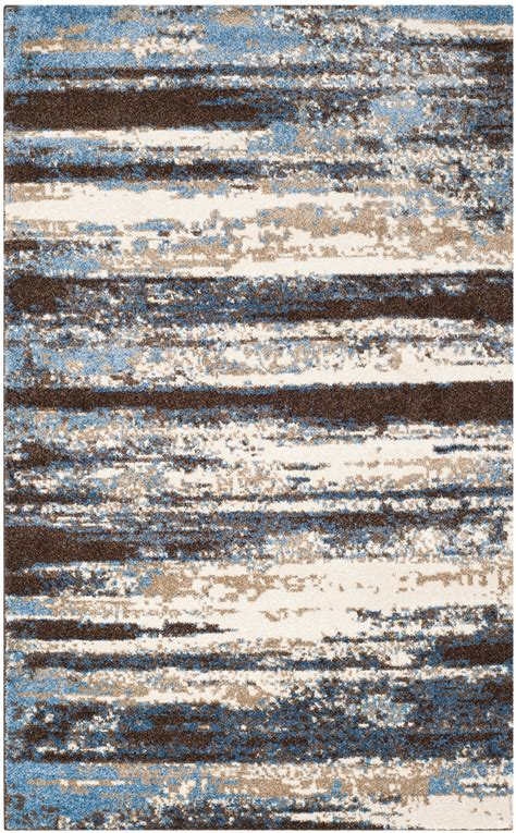 Safavieh Retro by Safavieh Power Loomed Retro Blue Area Rugs