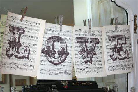 Music Themed Wedding Details
