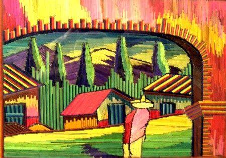 sugar skull wall folk painting