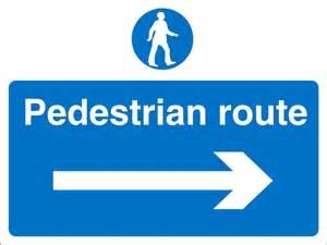 Pedestrian Walkway Safety Signs
