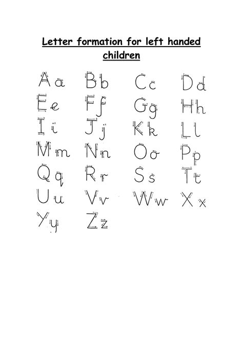 left handed letter formation letter formation