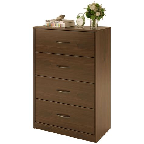 Modern Bedroom Dressers by 4 Drawer Dresser Chest Bedroom Furniture Black Brown White