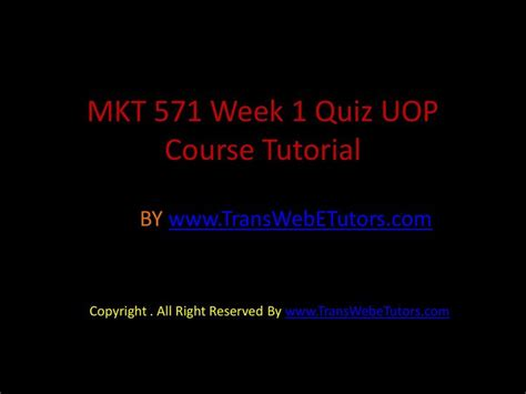17 best images about mkt 571 week 1 quiz on to