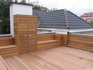 Armoire De Terrasse : int grer des bancs et une armoire dans sa terrasse en bois deck wood happax jardin terrasse ~ Farleysfitness.com Idées de Décoration